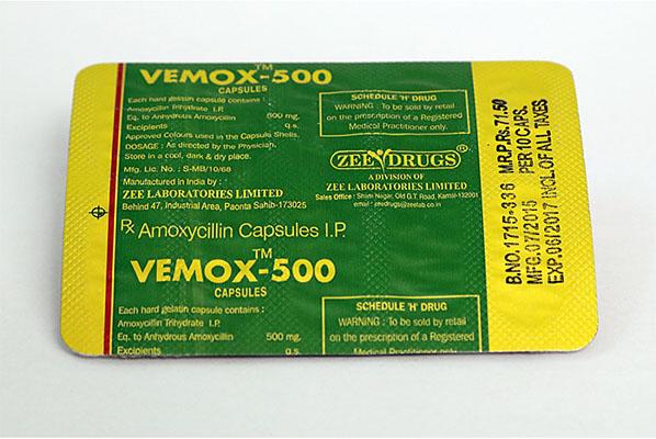 Kopen Amoxicilline: Vemox 500 Prijs